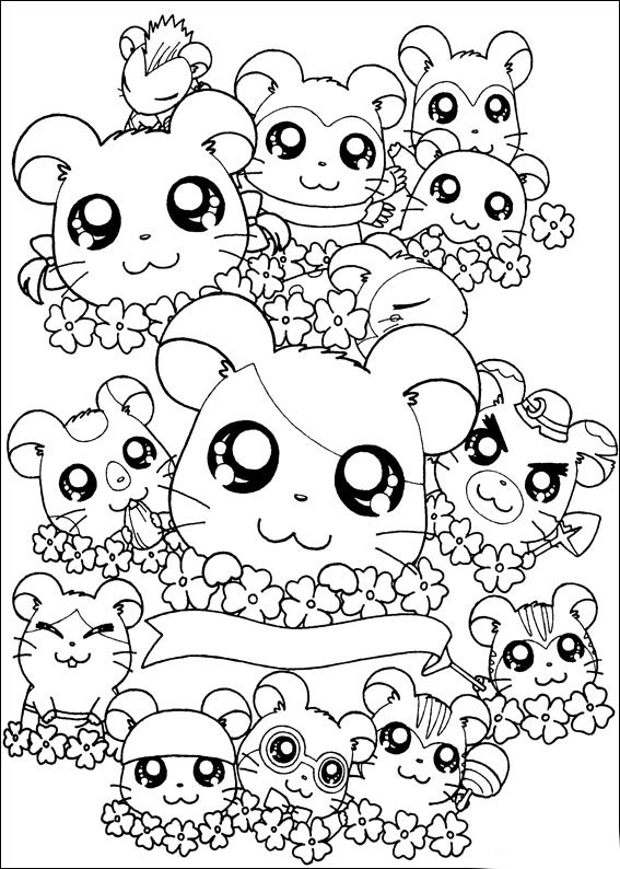 happy birthday coloring pages. Hamham Coloring Pages